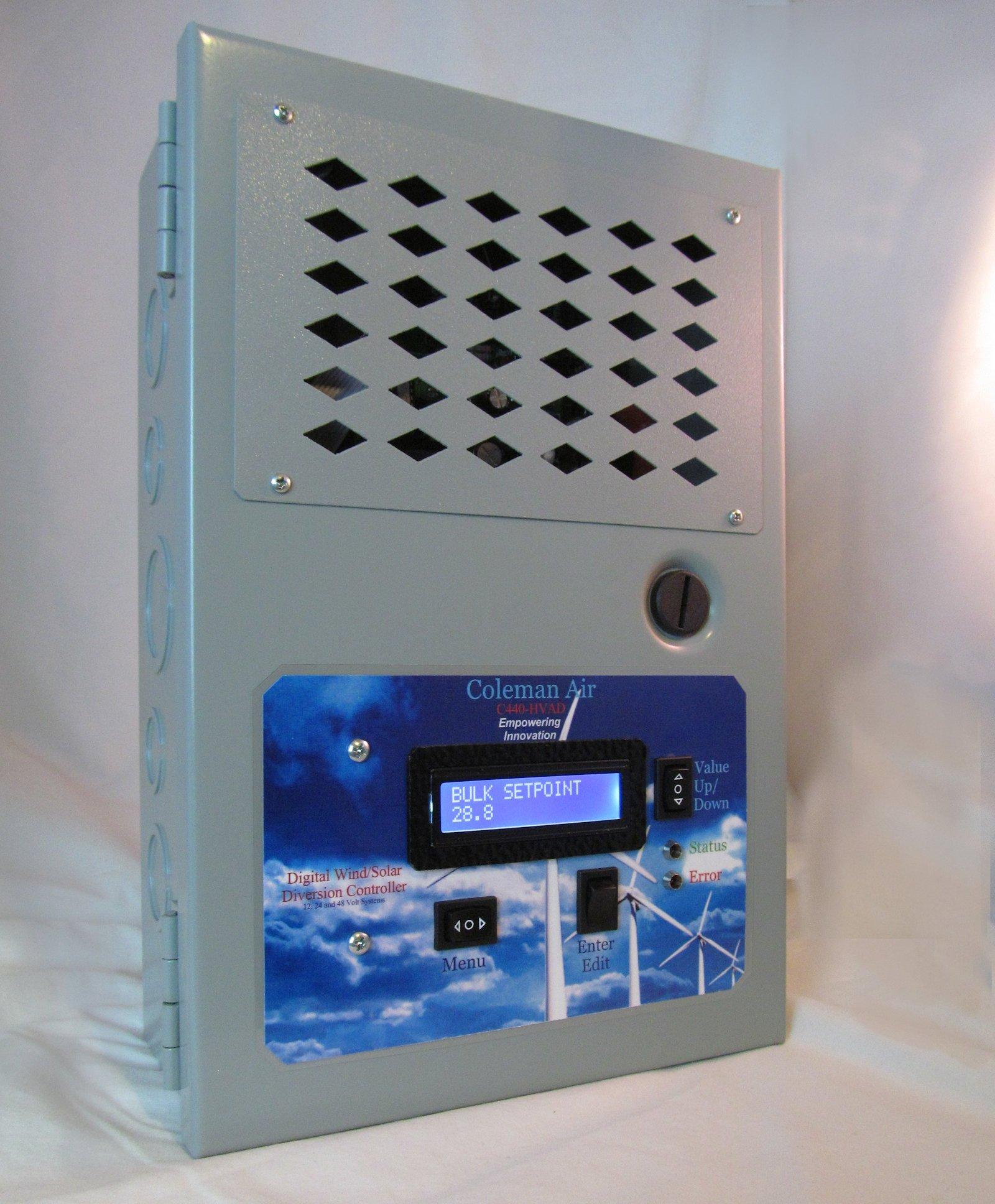 coleman air c440 hvad hva digital c440 440 a amp volt wind solar