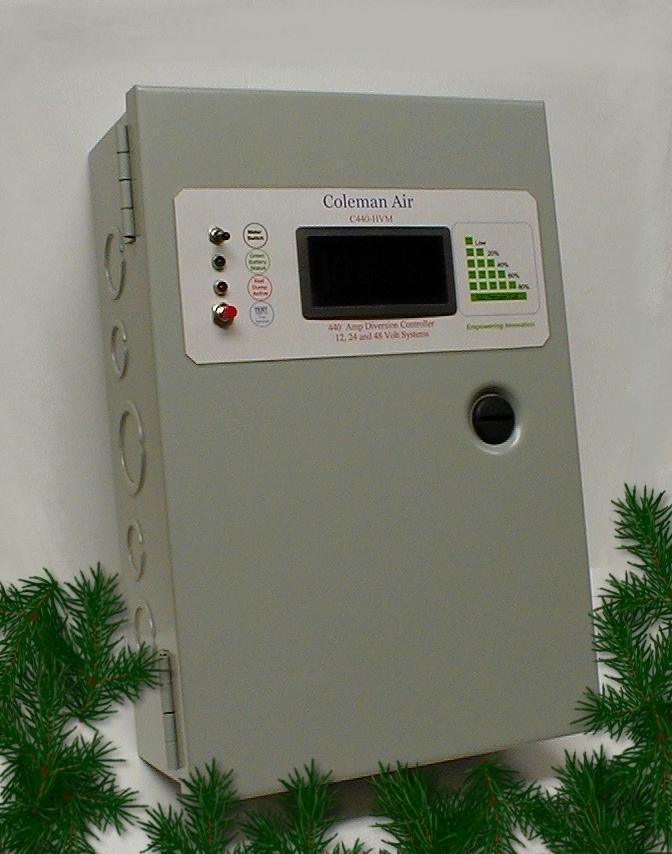 coleman air 440 a amp 12v 24v 48v solar wind hydro regulatorclick on image for full size