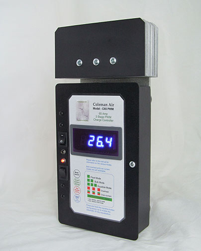 coleman air c65 pwm 65a 12 24v wind solar solid state pwm chargeclick for details